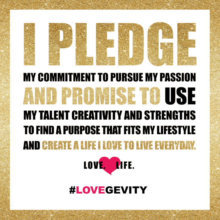 Pledge by Cho Phillips, founder of Lovegevity.